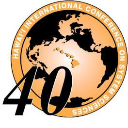 Titelblatt 40th Annual Hawaii International Conference on System Sciences