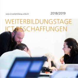 Titelblatt Weiterbildungstage zu ICT-Beschaffungen