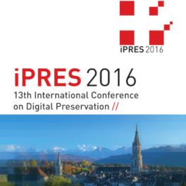 Titelblatt 13. International Conference on Digital Preservation