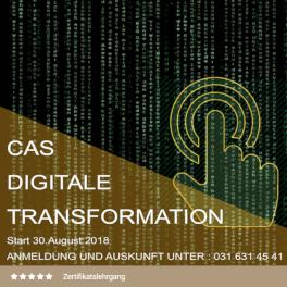 Titelblatt CAS Digitale Transformation