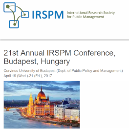 Titelblatt International Research Society for Public Management (IRSPM)